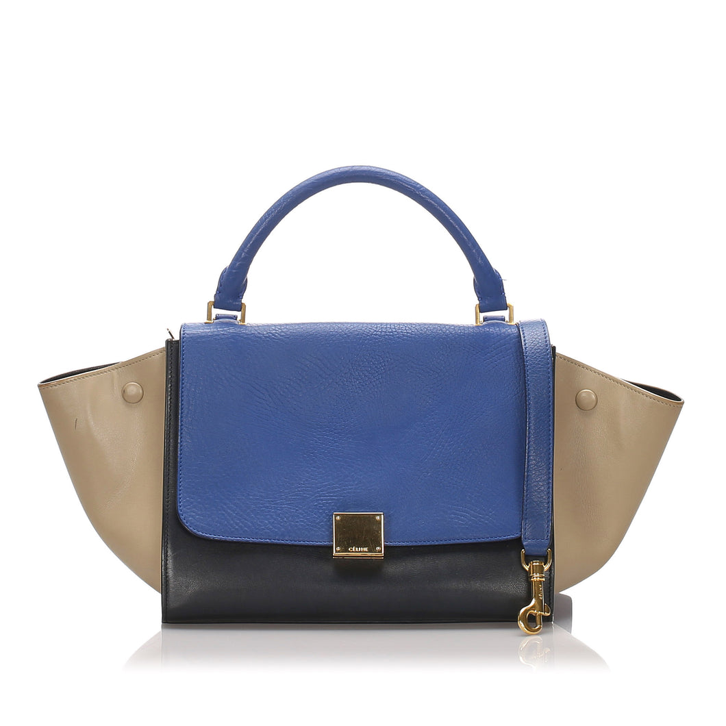 Celine Small Leather Trapeze Bag