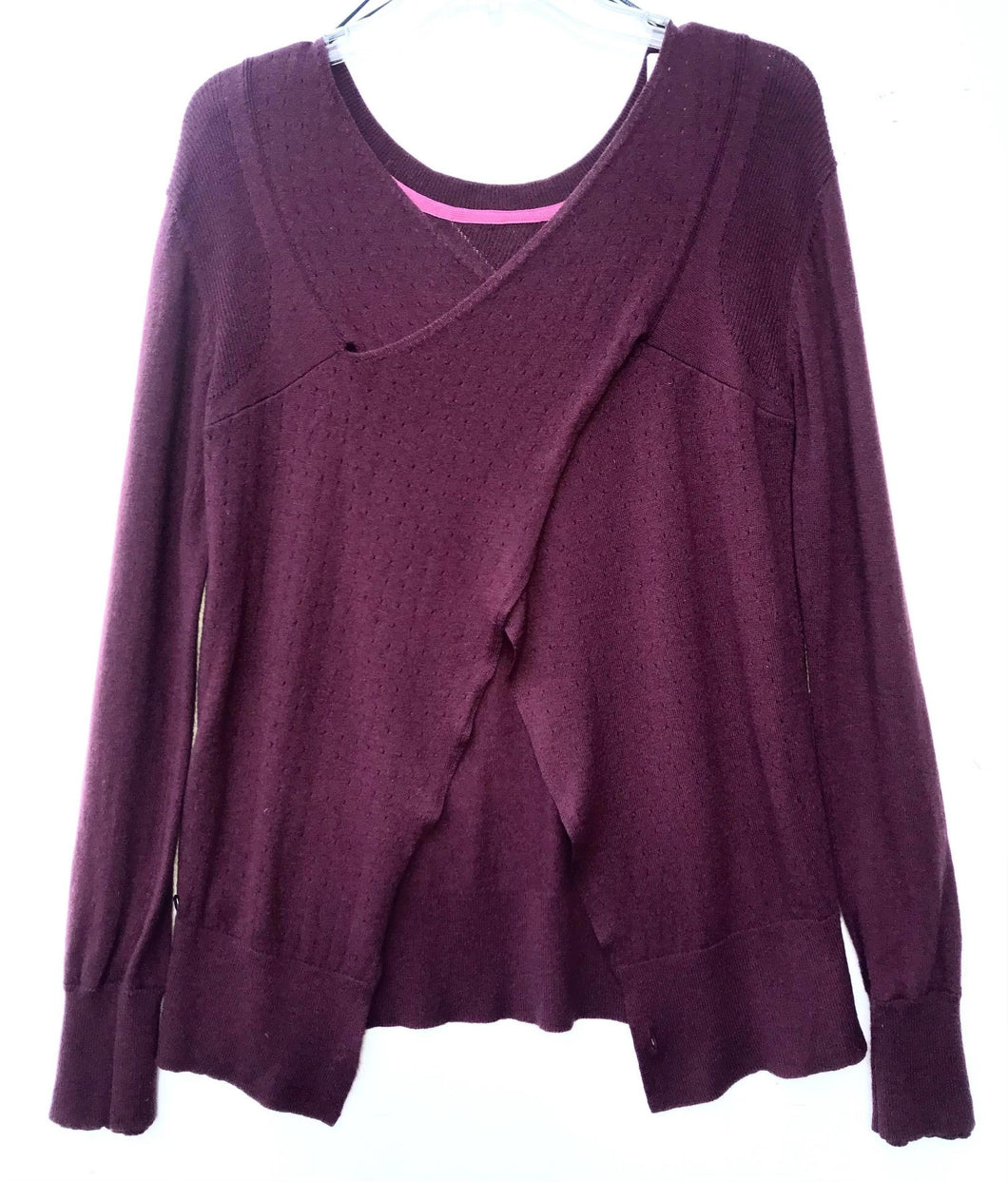 Lululemon Burgundy Wrap Athletic Sweater Size M