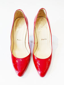 Christian Louboutin Red Patent Pumps Size 36.5