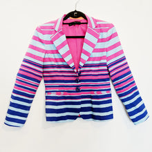 Nanette Lepore Pink and Blue Striped Blazer - Size 6