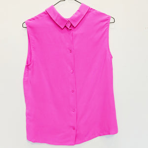 Equipment Pink Silk Blouse - Size S