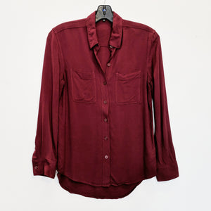Talula Red Button Up Shirt - Size XXS