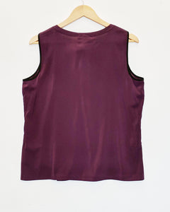 Calvin Klein Piped Purple Blouse