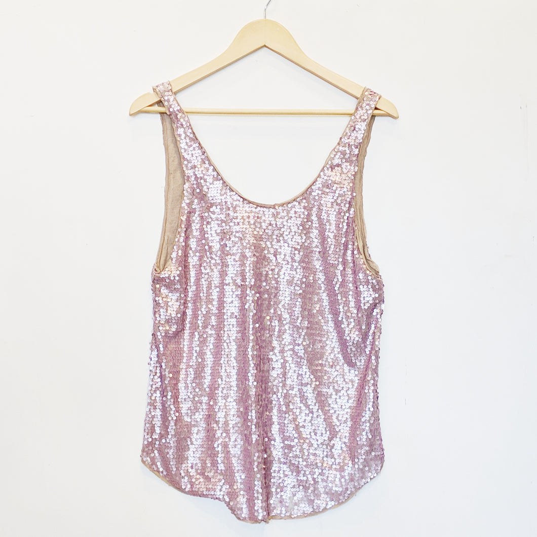 Talula Purple Sequin Tank
