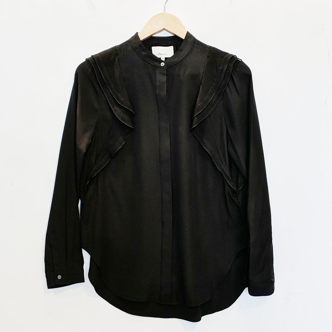 3.1 Phillip Lim Black Silk Blouse