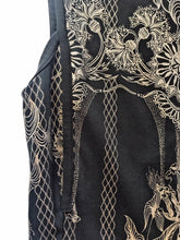 Roberto Cavalli Black & Gold Print Dress Size 38