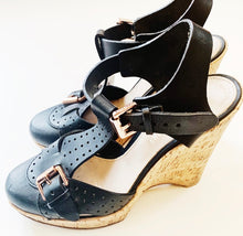 Mulberry Black Leather Sandals Size 40