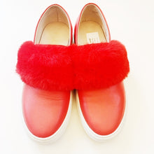Shoe the Bear Red Slip Ons Size 7
