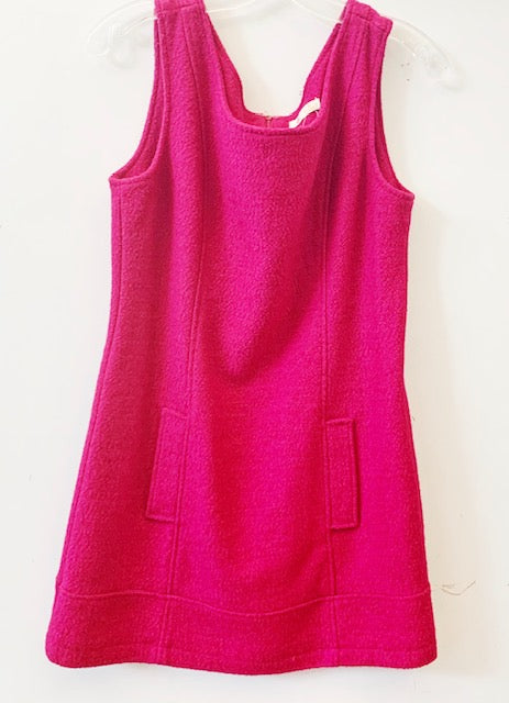 Tulle Fuschia Wool Dress Size L