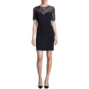 The Kooples Relief Crepe & Lace Dress - Size XS