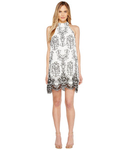 Badgley Mischka Embroidered Trapeze Dress