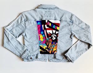 Hand-painted Denim Jacket Size M