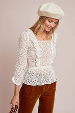 Meadow Rue Ivie Ruffled Lace Top - Size 12