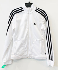 Adidas Black & White Zip Up Size S