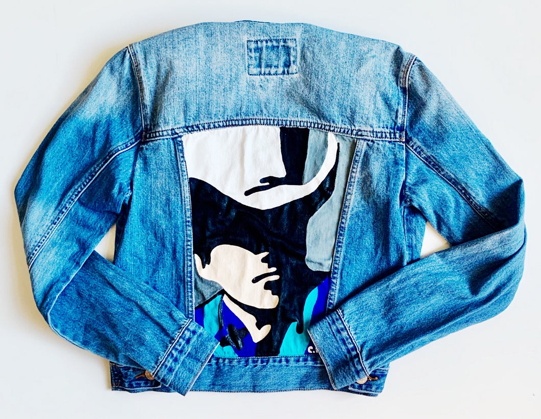 Hand-painted Denim Jacket Size S