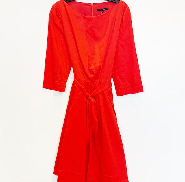 Tara Jarmon Red Cotton Dress Size 42