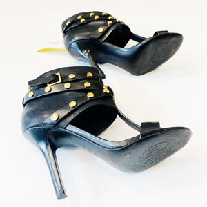 Tory Burch Black Leather Heels Size 7