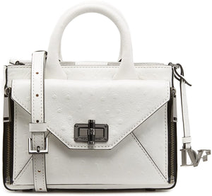 DVF Secret Agent Embossed Ostrich Tote