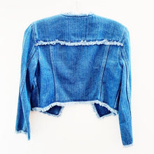 Club Monaco Denim Fringe Jacket Size S
