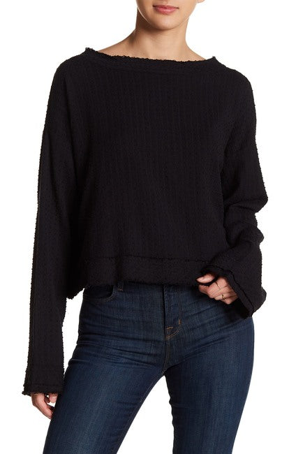 Free People Walking in Hueco Crop Sweater - Size S