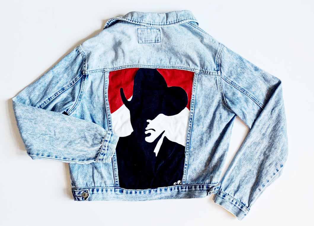 Hand-painted Denim Jacket Size L