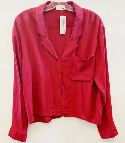 Wilfred Free Blouse Burgundy Size L