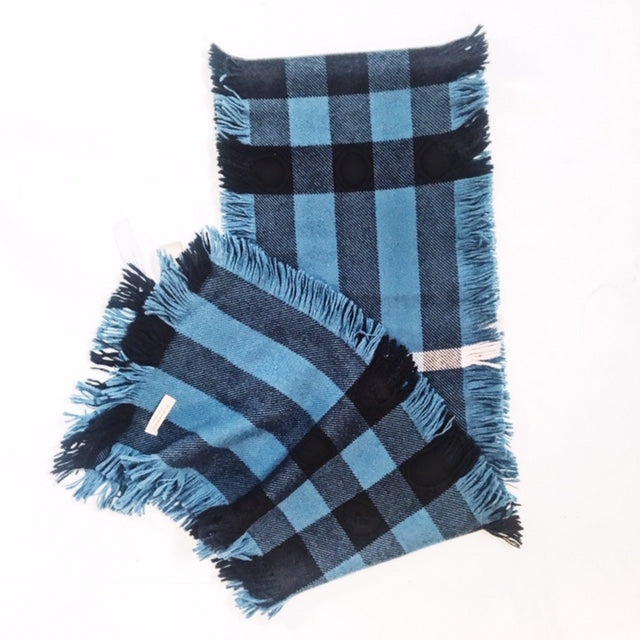 Burberry Plaid Wool Scarf with Fringe