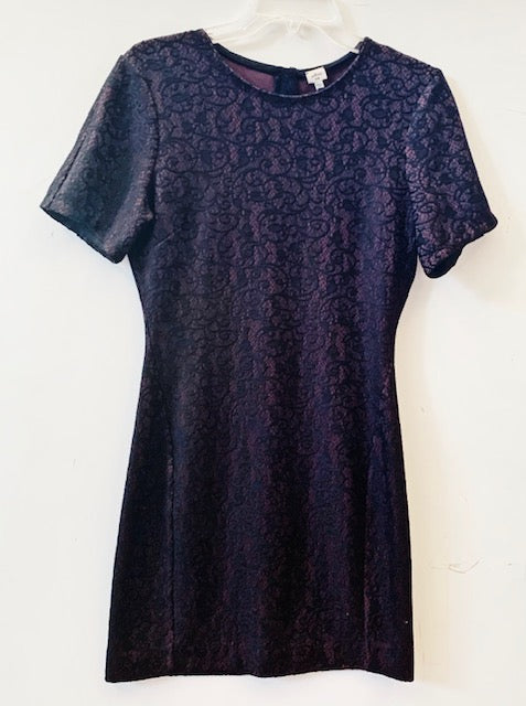 Wilfred Black & Purple Dress Size L