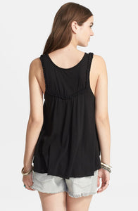 Free People Black Braided Tank