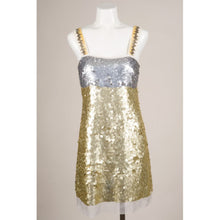 Vera Wang Lavender Label Gold Sequin Dress, Size 2