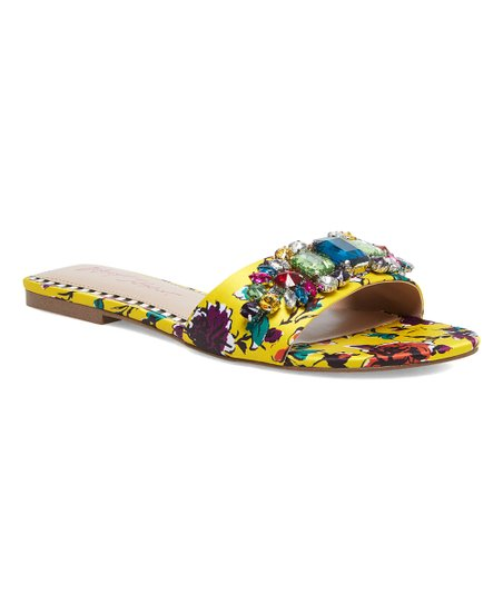Betsey Johnson Jeweled Slides Size 7.5