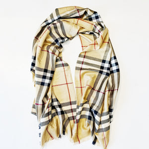 Burberry London Nova Check Cashmere Scarf