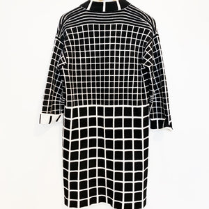 D.exterior Black & White Sweater Coat Size S