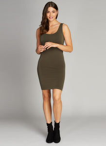 Bamboo Tank Dress Olive