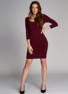 Bamboo 3/4 Sleeve Dress - One Size