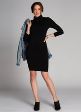 Bamboo Turtleneck Dress Black