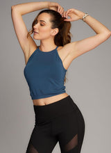 Bamboo High-Neck Crop Top Midnight