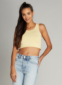 Bamboo Crop Tank Top - One Size