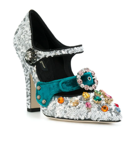Dolce & Gabbana Glitter Mary Jane Pumps