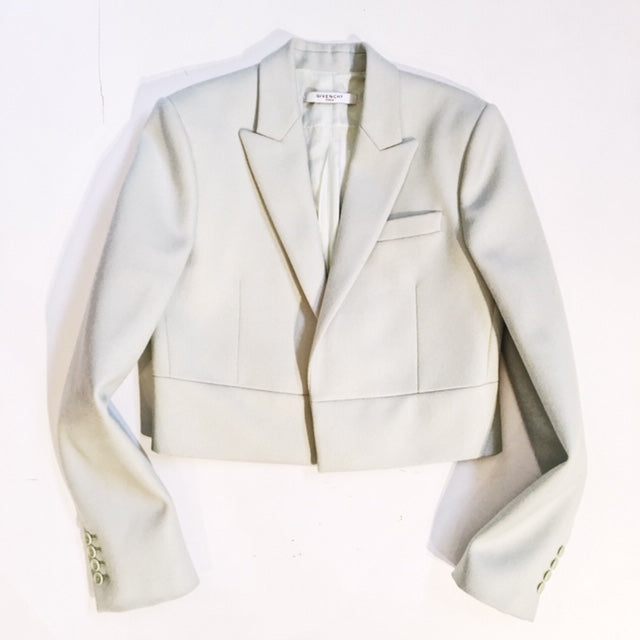 Givenchy Crop Wool Jacket, Size 38 / M