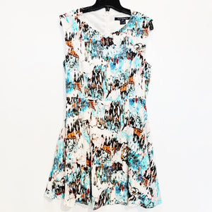 French Connection Print Dress Size 10