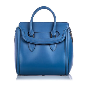 Alexander McQueen Large Leather Heroine Handbag