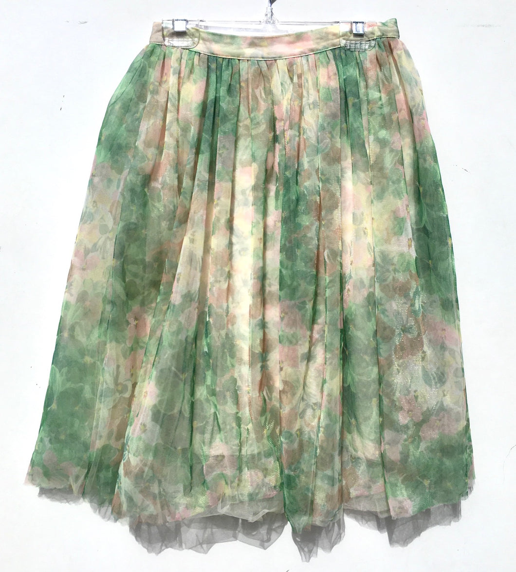 French Connection Floral Tulle Skirt Size 2