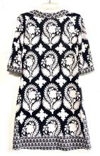 Diane von Furstenberg Black and White Print 3/4 Sleeve Dress Size 4