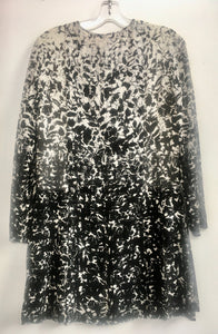 Tory Burch Black and White Print Dress Size 2