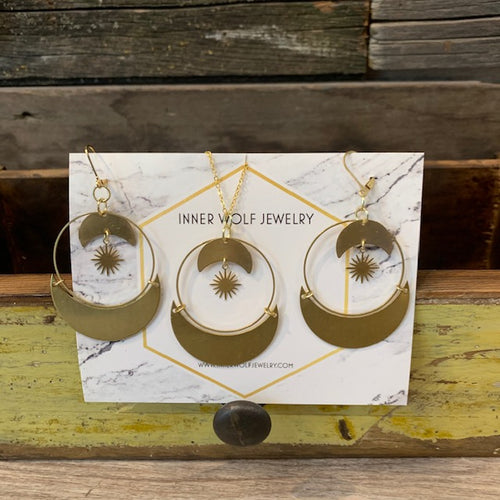 Inner Wolf Earrings + Necklace Set