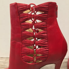 Christian Louboutin Red Leather Boots Size 40