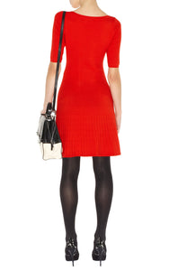 Karen Millen Orange Knit Dress Size 1