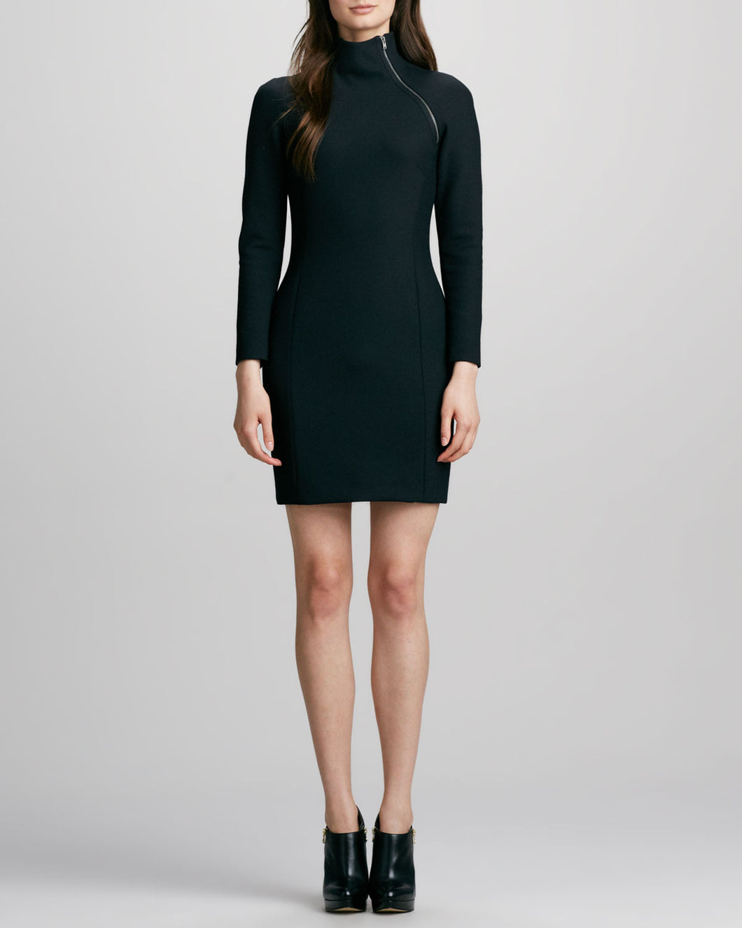 Theory Danella Zip-Neck Dress - Size 6