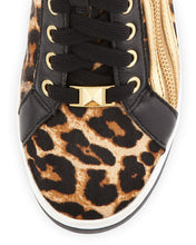 Michael Kors Leopard Glam Studded High Top Sneakers